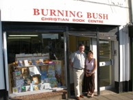 Ruth and Billy Neill outside Burning Bush